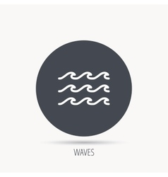 Waves icon sea flowing sign vector