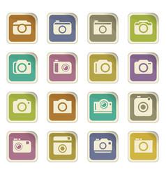 Photo camera icon set vector