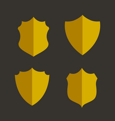 Four golden badges and labels design set vector