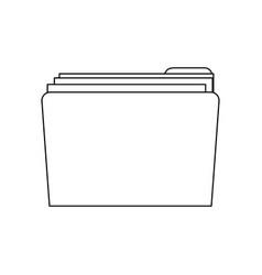 Folder file document confidential data message vector
