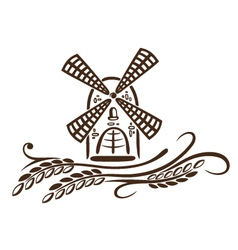 Mill grain bakery vector