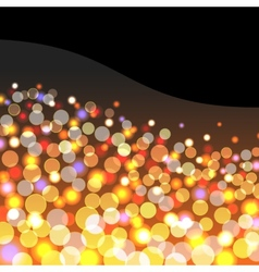 Abstract background with golden lights vector