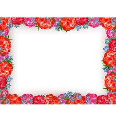 Peony Frame vector image
