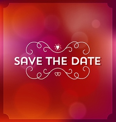 Wedding or engagment save the date invitation vector image