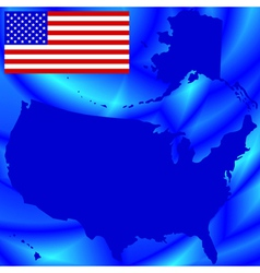 Usa map on abstract background vector