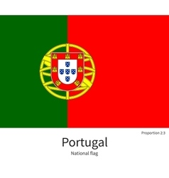 National flag of portugal with correct proportions vector