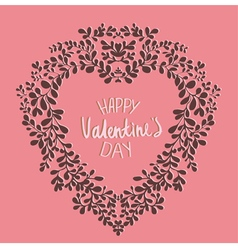 template Valentines Day card vector image
