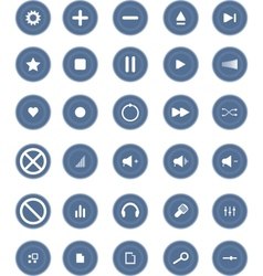 Media and Entertainment Web Icons vector image