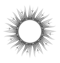 antique sun tarot astrological symbol sketch vector image