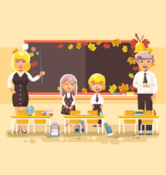 back to school cartoon vector image