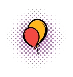 Balloons comics icon vector