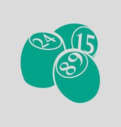 bingo kegs icon vector image