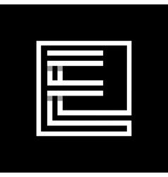 Capital letter e monogram logo emblem vector