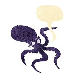 cartoon octopus with speech bubble vector image