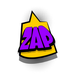 Comic book text bubble advertising zap vector