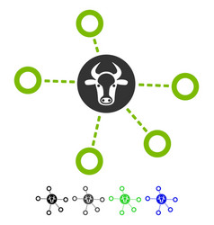 Cow relations flat icon vector