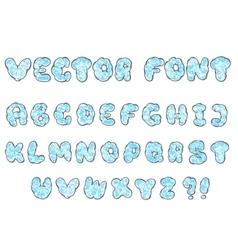 doodle cloud font vector image vector image