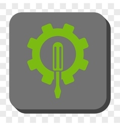 Engineering rounded square button vector