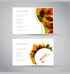 fresh natural fall banners vector image