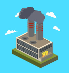 industrial factory isometric vector image