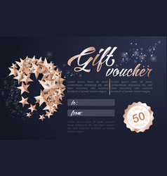 merry christmas ball made from stars gift card vector image vector image