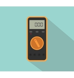 Multimeter digital tools voltage with flat color vector