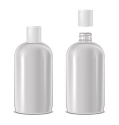 open and closed cosmetic bottle vector image vector image