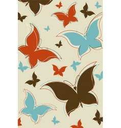 retro butterfly background vector image