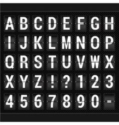 scoreboard ABC vector image
