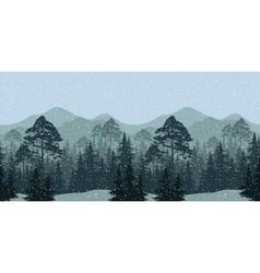 Seamless Winter Woodland Landscape vector image vector image
