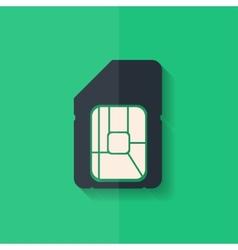 Sim card web icon flat design vector