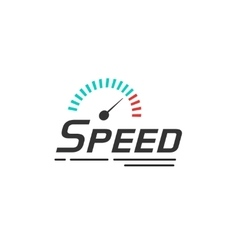 Speed logo template isolated on white vector