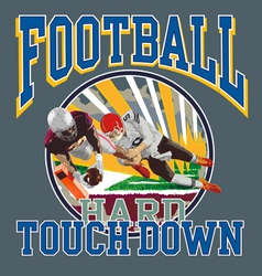 touchdown football player vector image vector image
