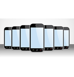 Set of generic smartphones device useful for app vector