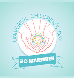 20 november universal childrens day vector image vector image