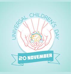 20 november universal childrens day vector