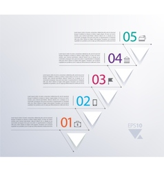 Timeline infographic with numbers and triangles vector
