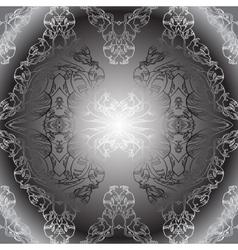 black white vintage wallpaper vector image