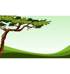 Nature scene with tree and field vector