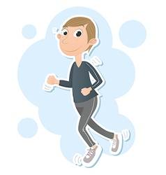 Jogging man vector