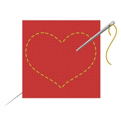 heart needle vector image