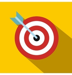 Target with dart flat icon vector