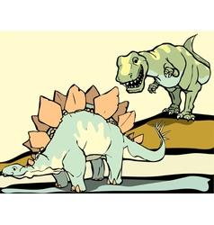 Hunting the Stegosaurus vector image