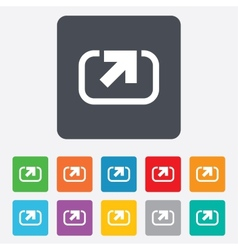 Action sign icon Share symbol vector image