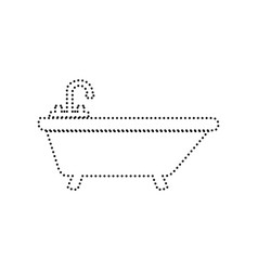 Bathtub sign black dotted vector