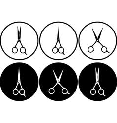 Black scissors in frame vector