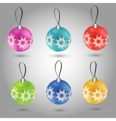 Christmas tree toy round ball vector