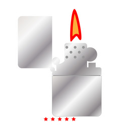 cigarette lighter icon color fill style vector image vector image
