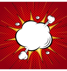 Comic speech cloud bubble halftone back vector image vector image