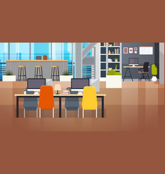 Coworking space interior modern coworking office vector